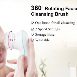 5 in 1 Electric Facial Cleanser Wash Face Cleaning Machine Skin Pore Cleaner Body Cleansing Massage Beauty Massager Clean Tools