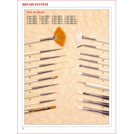 Süsleme Fırçaları - 20 Çeşit