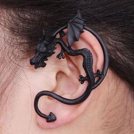 Metal Dragon Bite Ear Cuff Clip