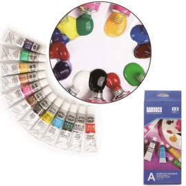 12 colors acrylic paint for Ornament