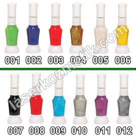 Nail Art nail polish (a combination of the needle tip and brush tip)